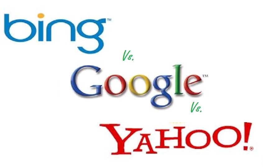 Google Vs. Bing Vs. Yahoo